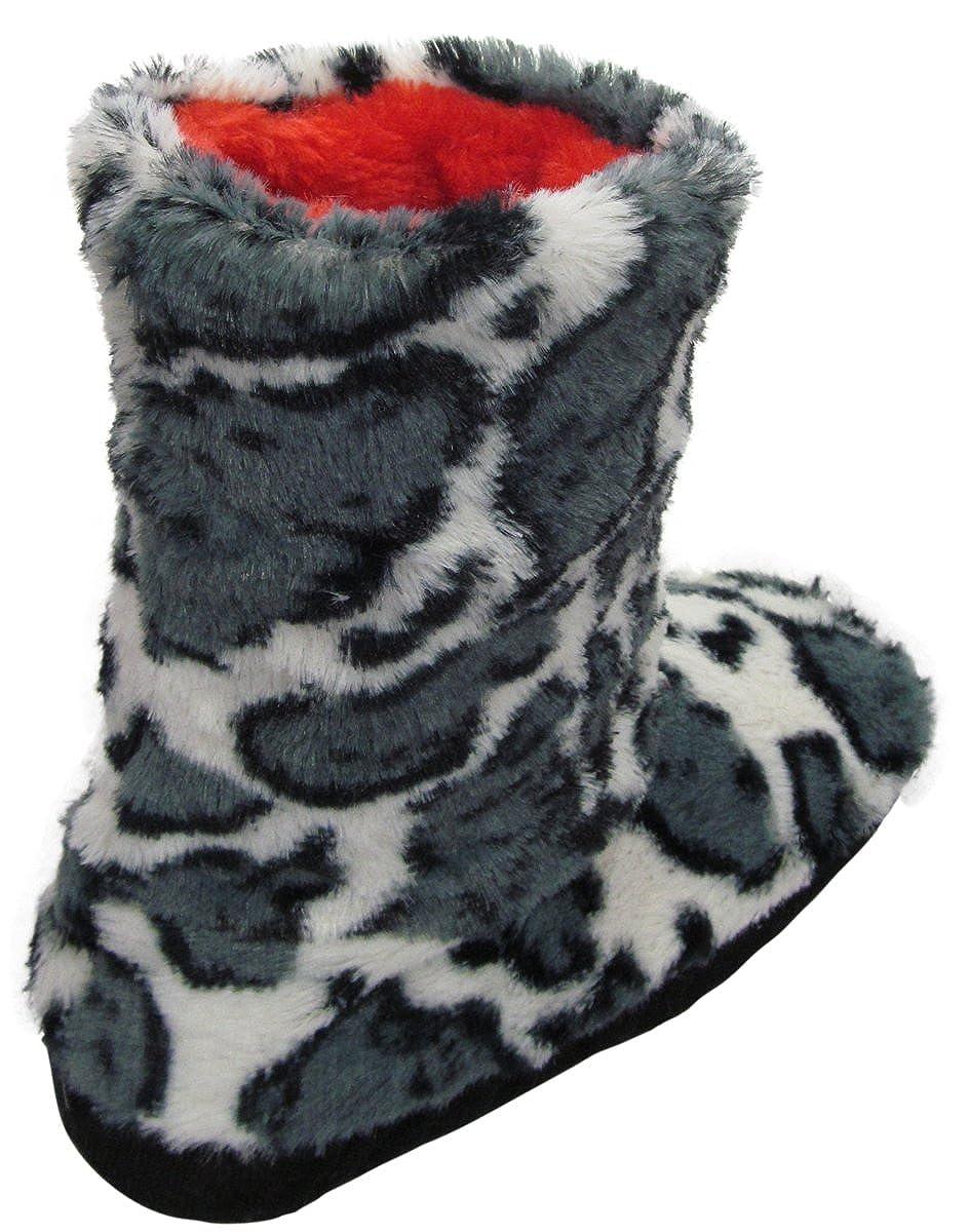 Bottom Size: 23-24 Cm HS9611 Bottom Size: 23-24cm Animal Printed Slipper Bootie Shoe size 5-7