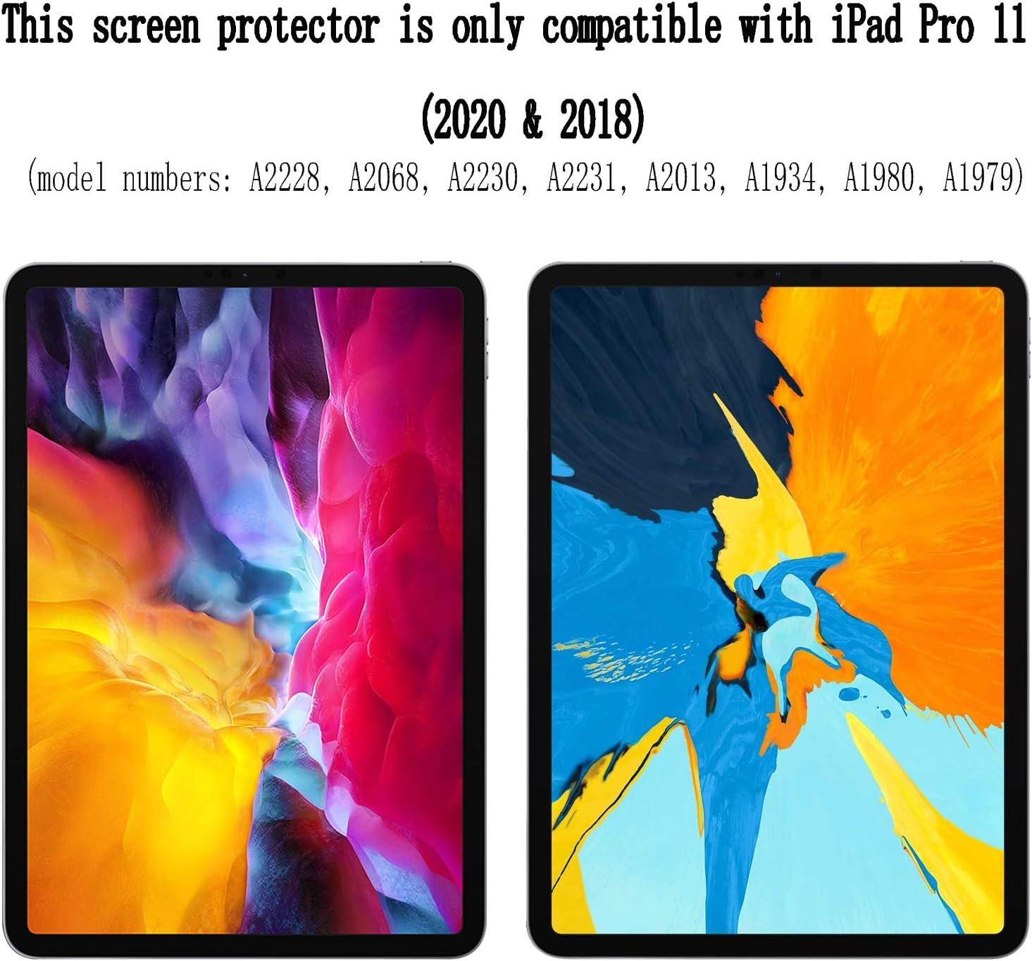 2 Pezzi Vetro Temperato Premium 9H Protezione Scratch Resistente per Apple iPad Pro 11 2018 /& 2020 JHTC Pellicola Protettiva per Apple iPad Pro 11 2018 /& 2020