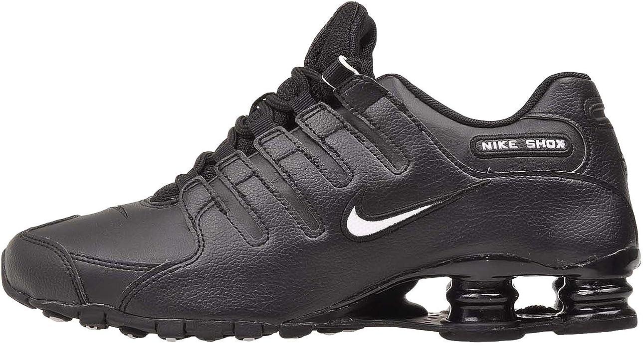 Nike Men's Shox NZ EU, Black/White-Black, Size 13