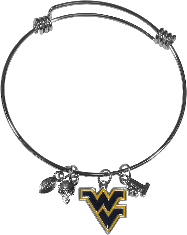 Siskiyou NCAA West Virginia Mountaineers Charm Bangle Bracelet