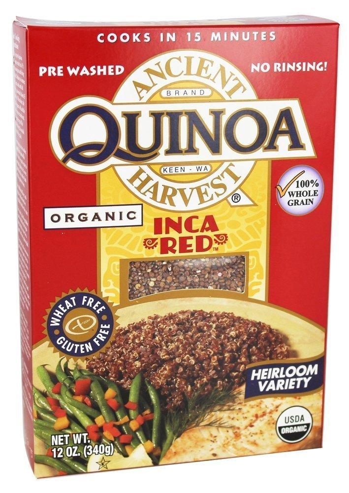 Gluten Free Organic Quinoa, Inca Red, 12 Oz