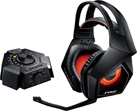 Headset Gaming USB Audio Station True 7.1 32 Ω, Asus, Microfones e fones de ouvido, Black