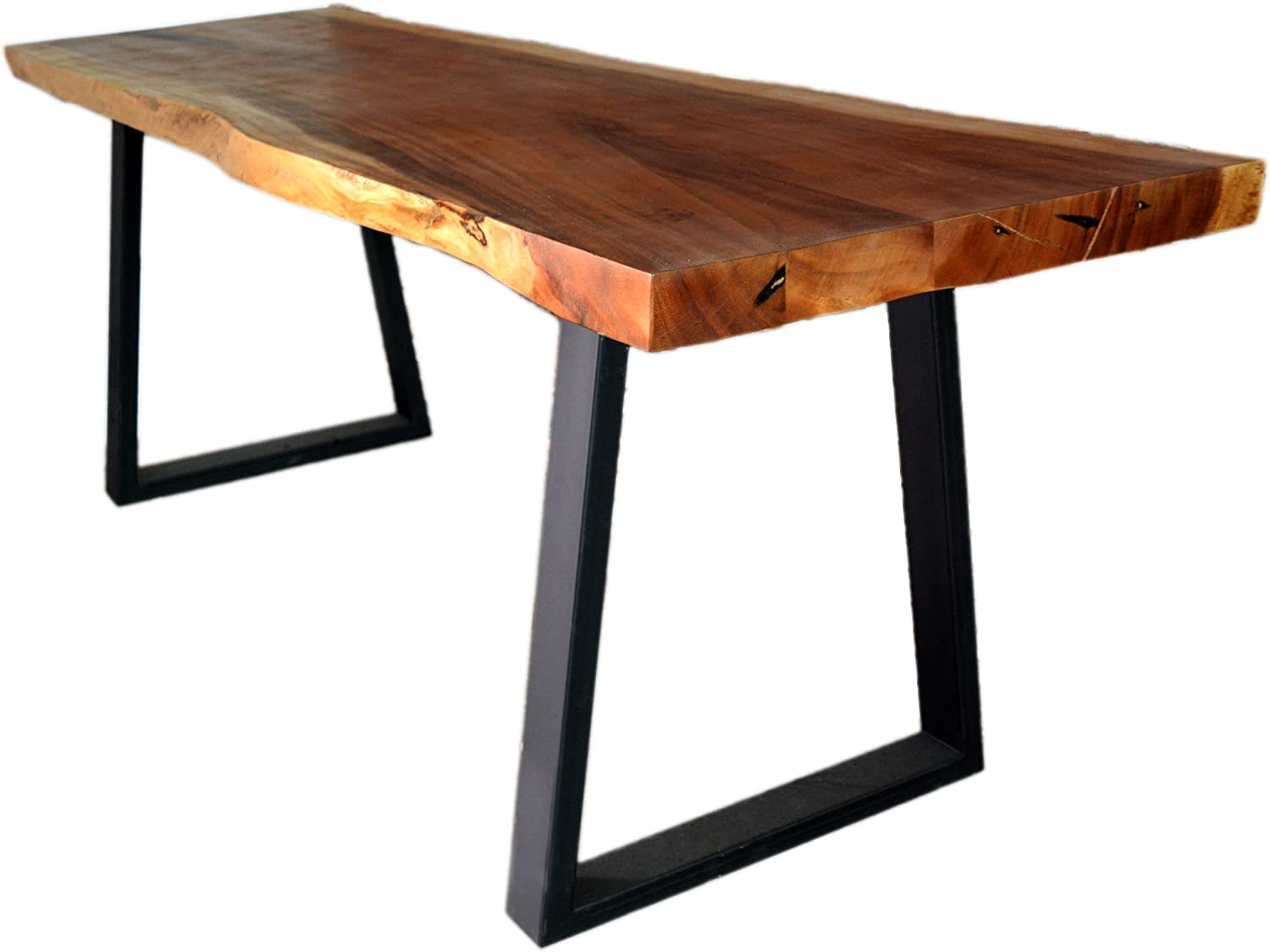 Amazon Com Roro Live Edge Solid Wood Slab Acacia Dining Table Executive Desk 72 Inch 6 Foot Tables