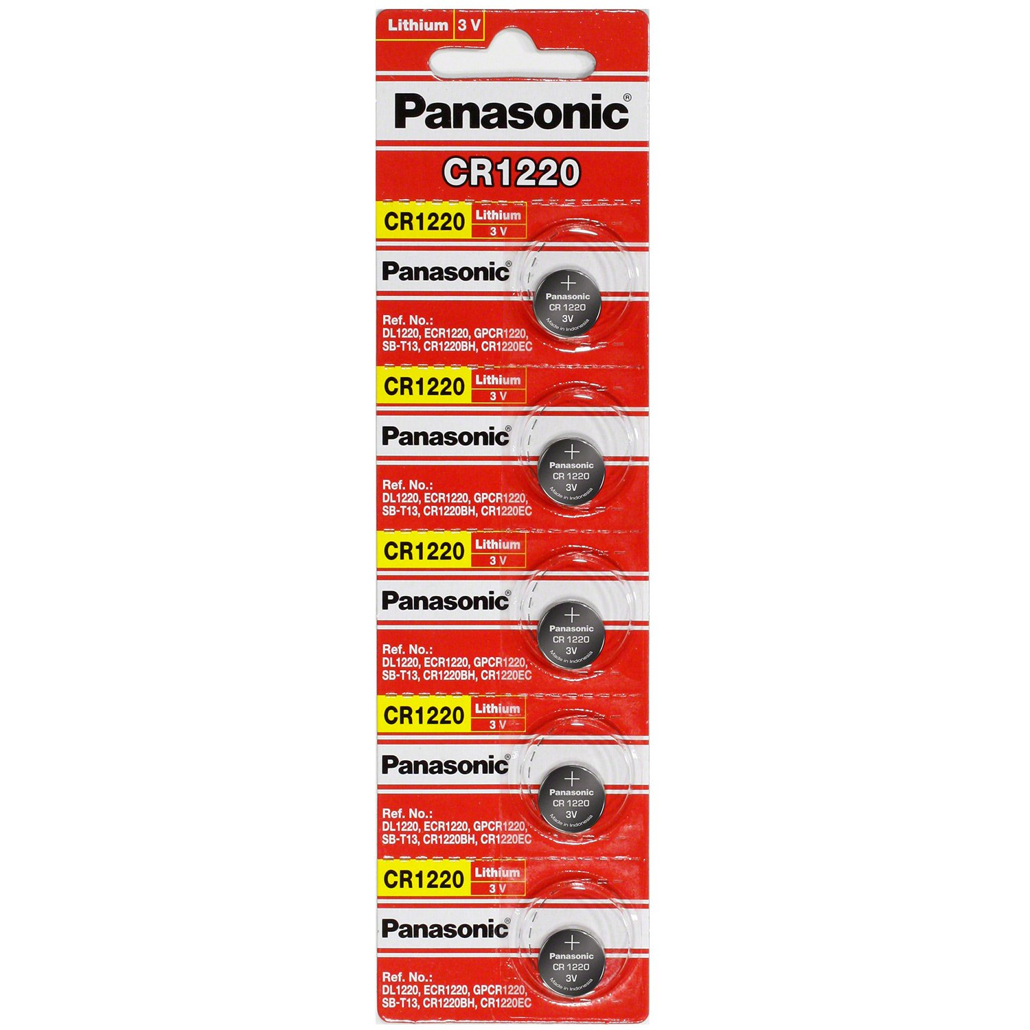 Panasonic CR1220 3 Volt Lithium Coin Battery (Pack of 100)