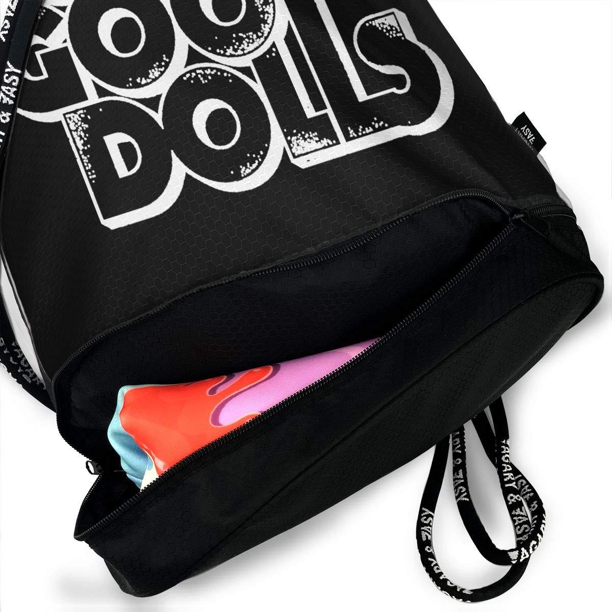 Sport Gym Travel Bag AgoodShop Goo Goo Dolls Band Logo Drawstring Backpack