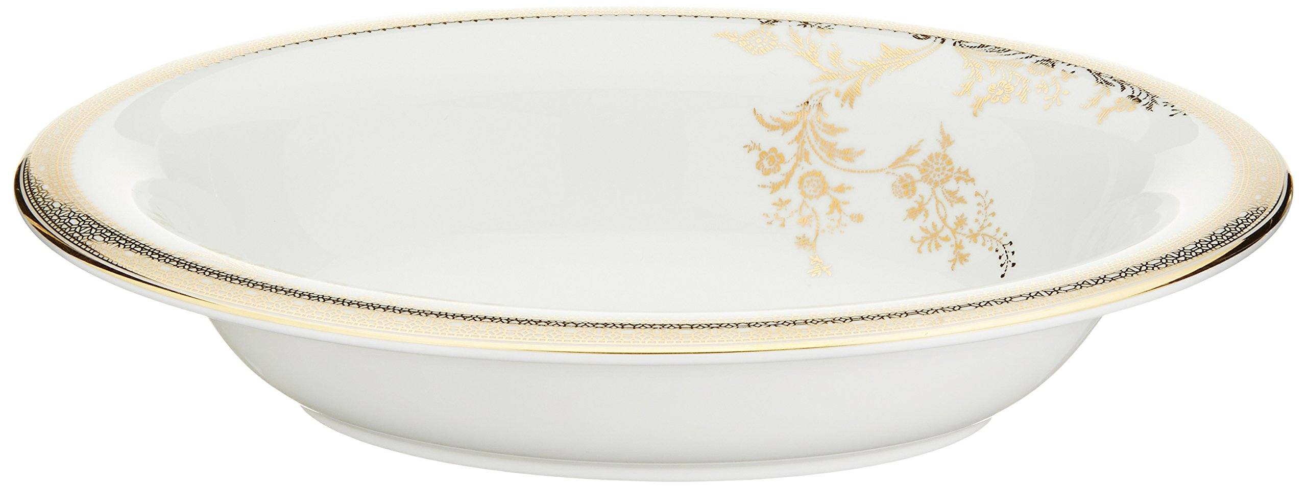 Wedgwood Vera Wang Vera Lace Gold 9-3/4-Inch Oval Open Vegetable