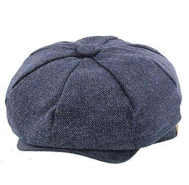 b4aeeefe900 The Hat Company  Liam  Check Bakerboy Wool Blend Cap (Small Medium 58cm