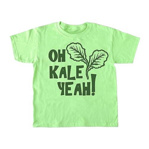 5a7b7811b1 Amazon.com: Kid's Oh Kale Yeah ® Shirt - Funny Toddler Vegan T-shirt ...