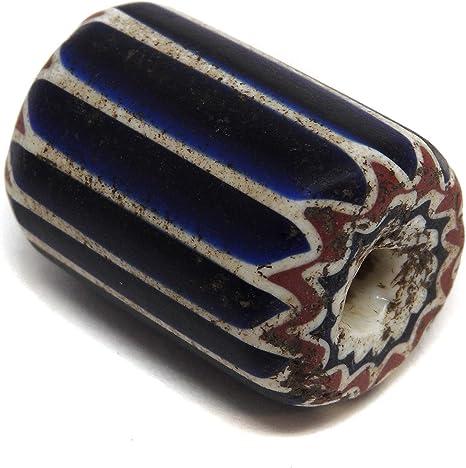 6 Layer Chevron trade bead blau