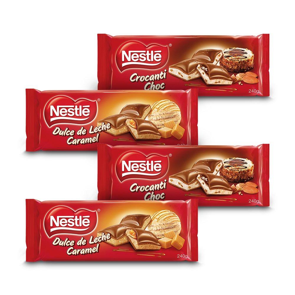 Nestlé Chocolate - Pack de 2 Relleno Dulce de Leche Crocanti (240 g) + Pack de 2 Dulce de Leche Caramelo (240 g): Amazon.es: Alimentación y bebidas
