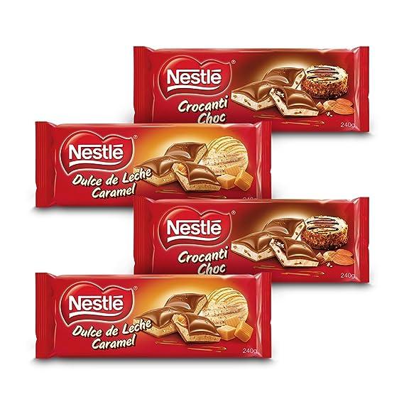 Nestlé Chocolate - Pack de 2 Relleno Dulce de Leche Crocanti (240 g) +
