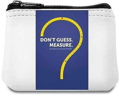 Dont guess, measure Monedero de neopreno: Amazon.es ...
