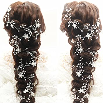 Luxury Gold Bridal Hair Vine Crystal Headpieces for Wedding Dress Beaded Halo