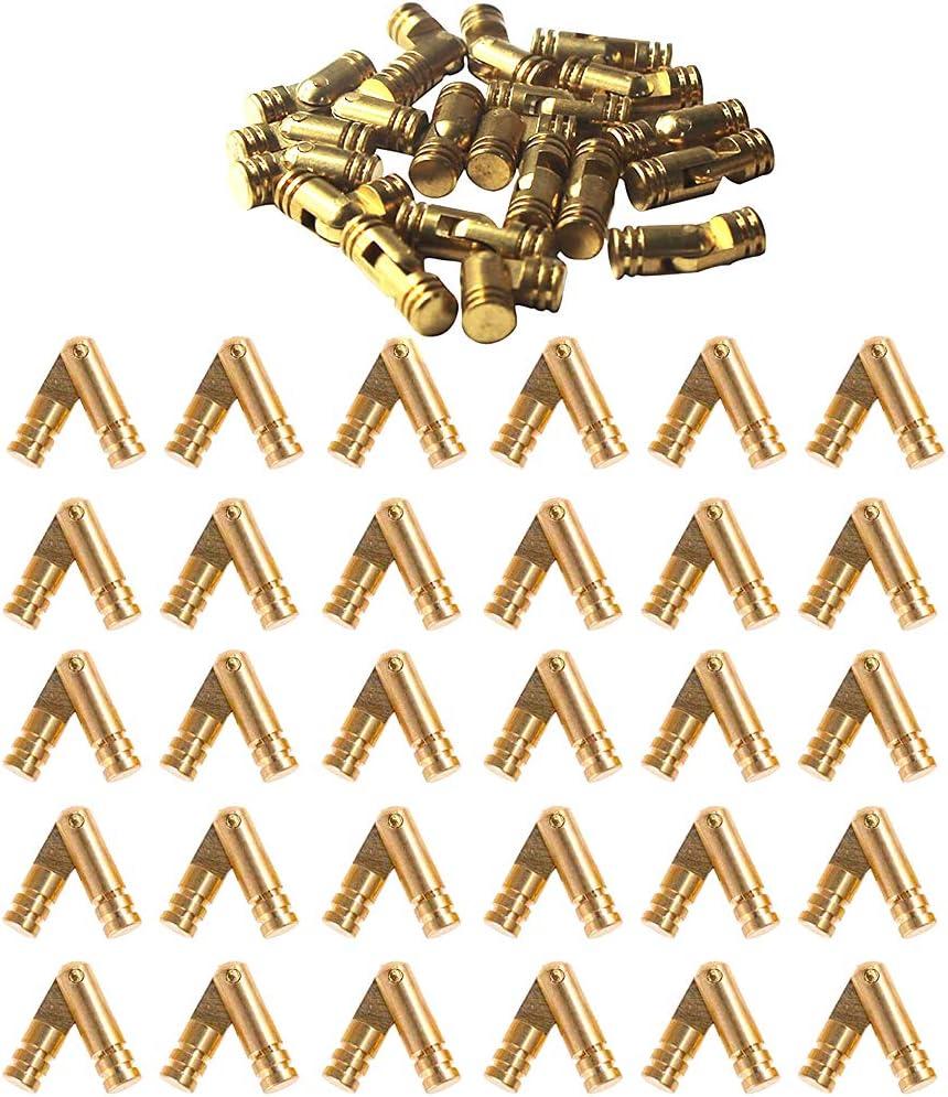 Mini Bisagras 30 Piezas Bisagras Ocultas Bisagras Ocultas para Puertas Bisagra de Lat/ón Muebles Bisagras de Lat/ón Ocultas Bisagras Invisibles para Bricolaje Caja de Joyer/ía Contenedor de Organizador