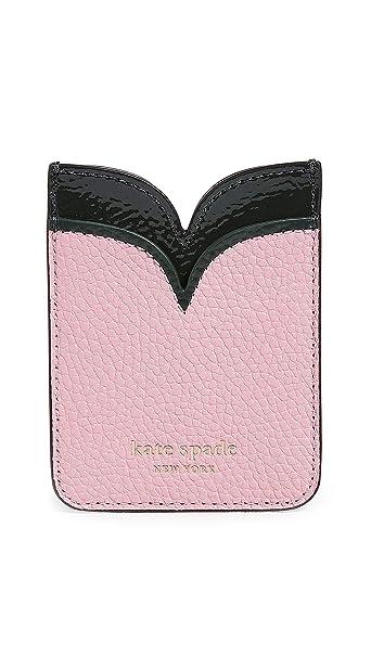pretty nice 5dc8f e2fe4 Kate Spade New York Sam Double Sticker Pocket, Rococo Pink, One Size