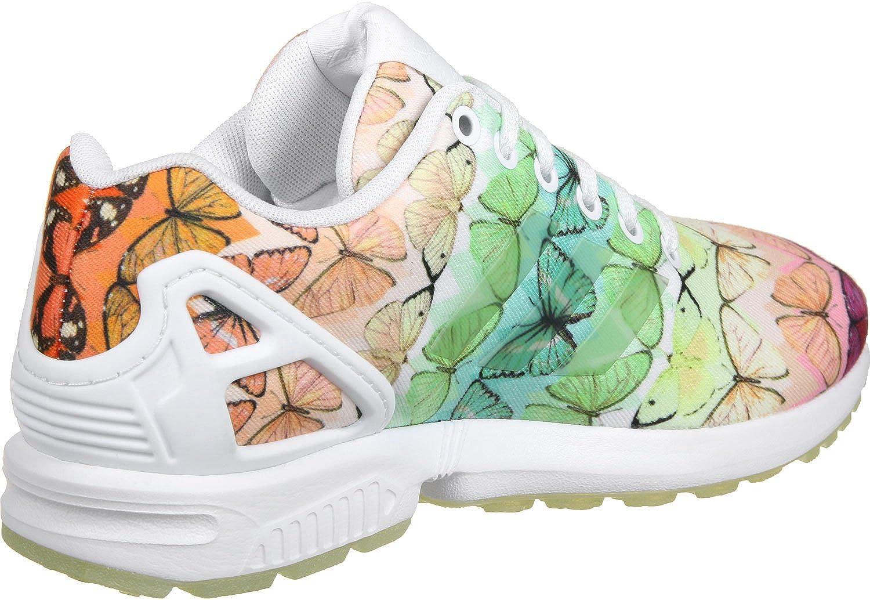 Adidas Niedrig-top Damen Zx Flux W Niedrig-top Adidas Footwear Weiß/Linen Grün 8dbe88