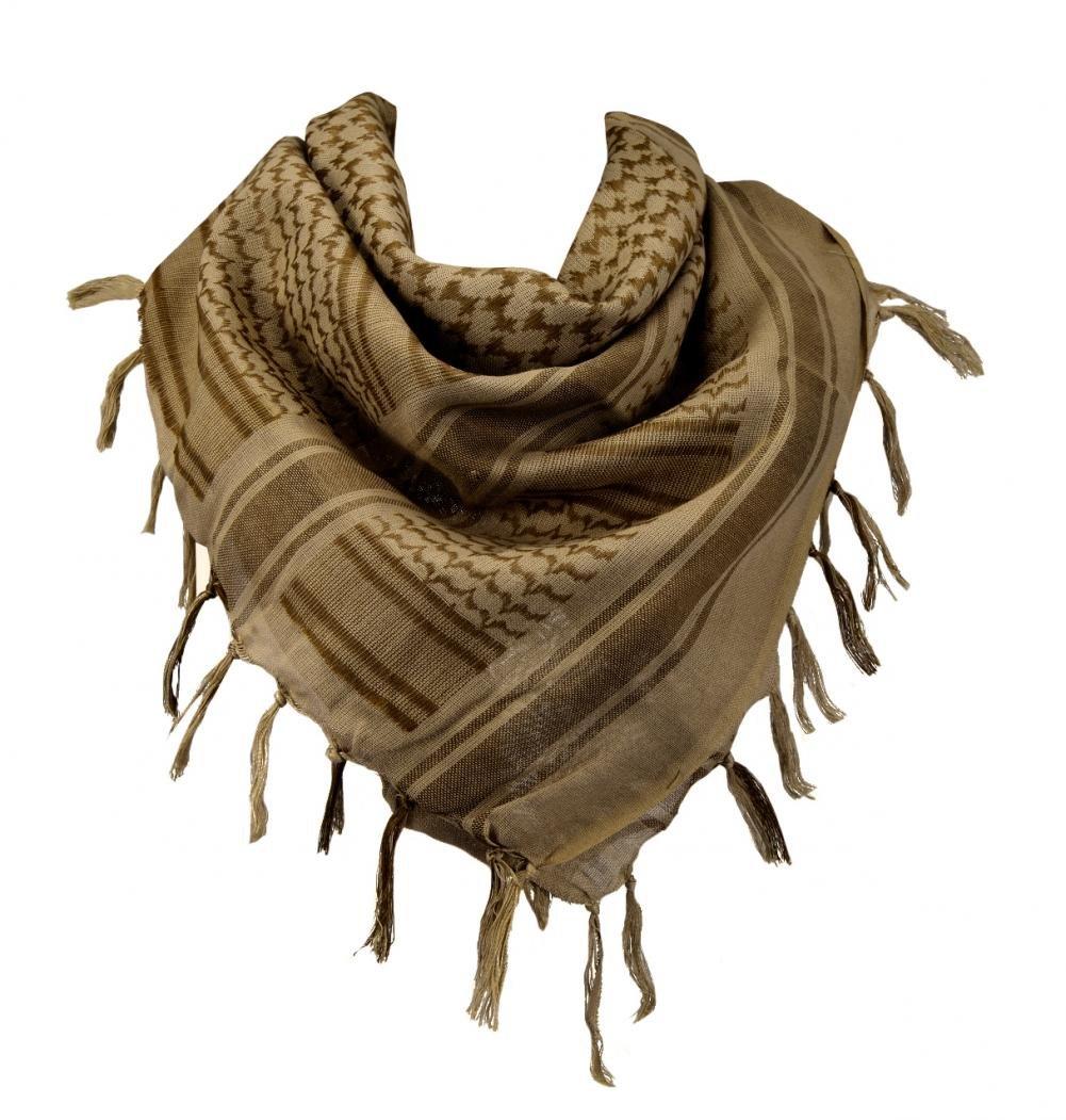 100% Cotton Military Shemagh Arab Tactical Desert Keffiyeh Scarf Wrap for Women Men 43''x43''
