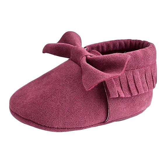 Good Night Bebé bebés de los muchachos de primera calidad suave mocasines de borla de los zapatos antideslizantes de Prewalker de los zapatos para niños ...
