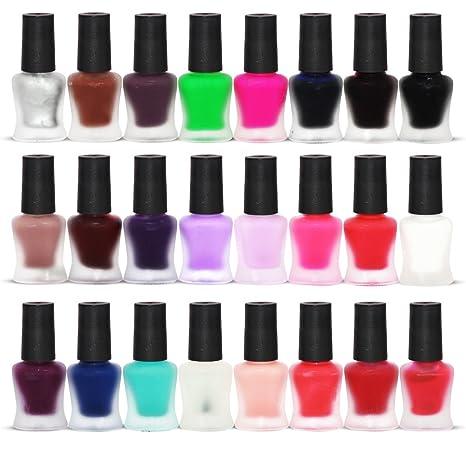 24 X Mate Esmalte De Uñas Conjunto 24 Colores Diferentes