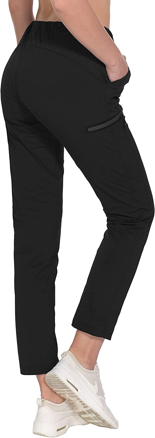 Little Donkey Andy Womens Ultra-Stretch Quick Dry Lightweight Ankle Pants Drawstring Travel Hiking Casual