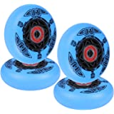 Labeda Wheels 76mm 94A EXTREME HARD WHITE 4-Pack Inline Hockey Bones Reds