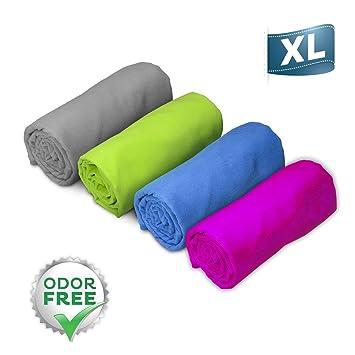 Aquamare Microfibra Toalla de Secado rápido (130 x 80 cm) – Súper Absorbente Toalla de Viaje Ligero Yoga, Deportes, Gimnasio, Pilates, Camping, ...
