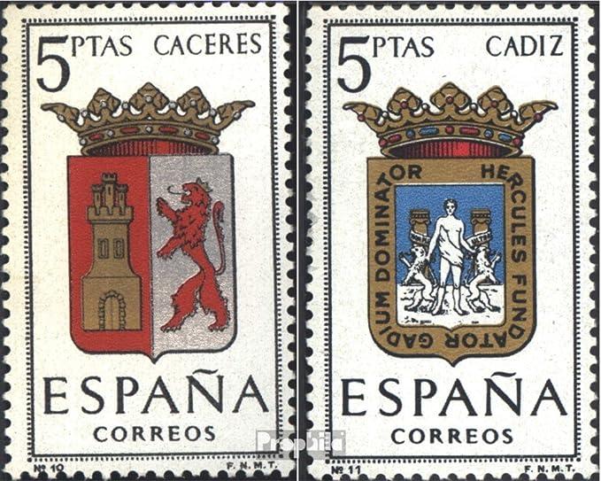 Prophila Collection España Michel.-No..: 1370,1371 (Completa.edición.) 1962 Escudo de Armas (Sellos para los coleccionistas): Amazon.es: Juguetes y juegos
