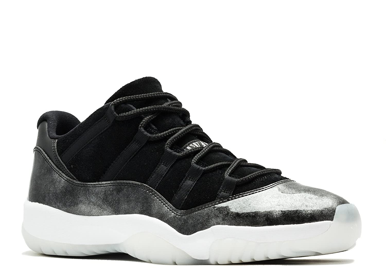 buy popular a6669 8d4ba Amazon.com   Jordan 528895-010 Men AIR 11 Retro Low Black White Silver    Basketball