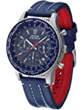 Detomaso Firenze orologio al quarzo con display con cronografo beige e marrone in pelle da uomo braccialetto sl1624C-bg