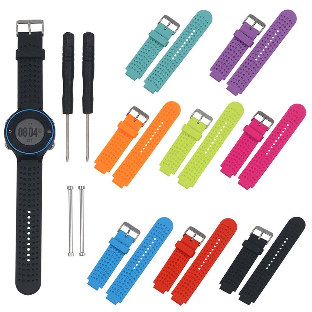 Jiamins Bracelet de Remplacement en Silicone pour Garmin Forerunner 230//235//630//735/Montre GPS