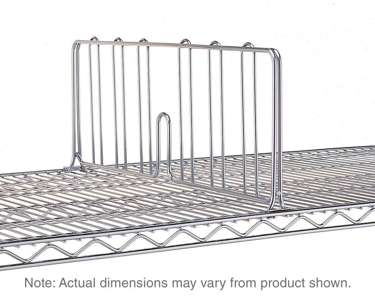 Super Erecta Shelf Divider, Polished Stainless Steel, 8'' x 24'' by METRO