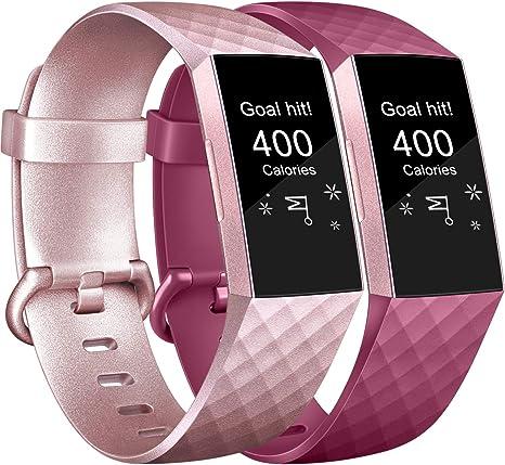 Imagen deAK Fitbit Charge 3 Correa de Reloj, Banda de Reemplazo Silicona Suave Accesorio Sports Pulsera para Fitbit Charge 3/Charge 3 SE Fitness Smart Watch Pequeño Grande