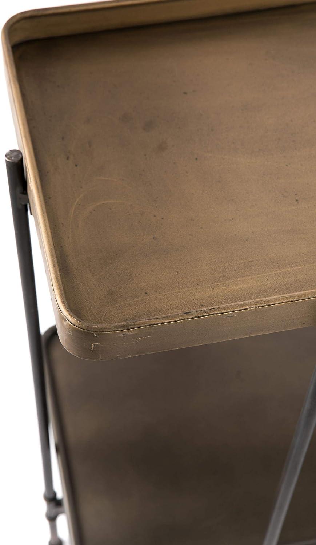 Consola Hierro y Madera N/órdico 122 x 47 x 85 Crema Natural