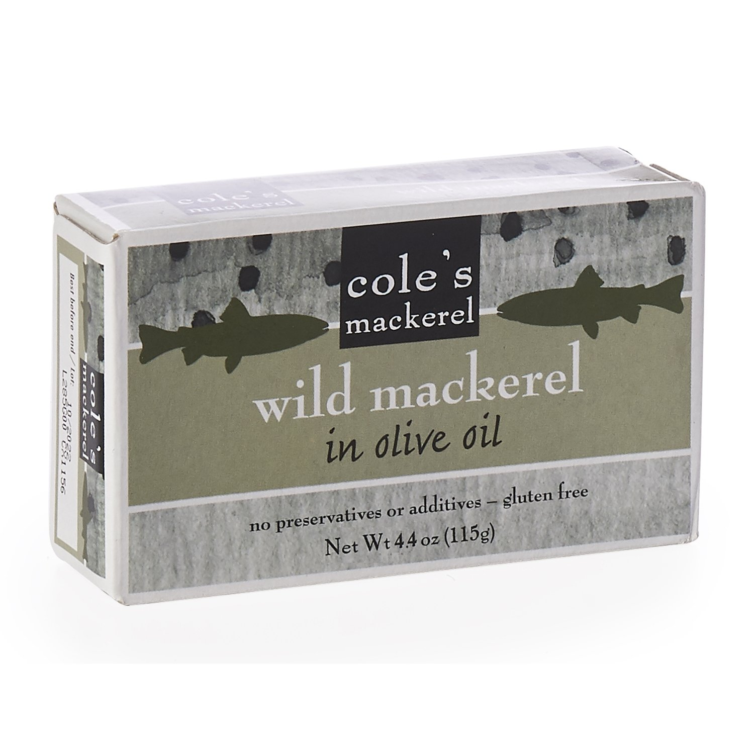 COLES MACKEREL OLIVE OIL, 4.4 OZ (pack of 10)