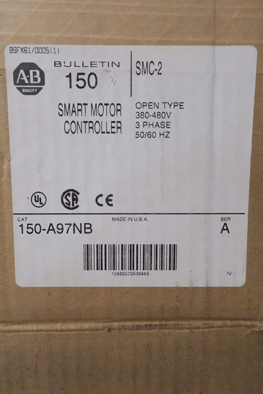 Allen Bradley 150 A97nb Smc 2 460v Soft Start Starter Motor Drive Industrial Control Smctm 50 Solidstate Smart Controllers D571548 Scientific