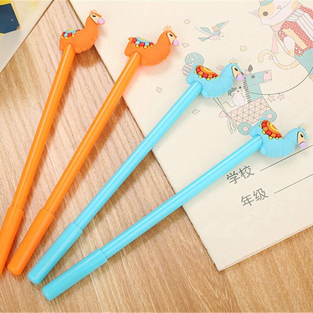6PCS WIN-MARKET Animal llama Alpaca Sheep Camel Gel Pens Set Fashion Cute Colorful Kawaii Lovely Colorful Gel Ball Pens Office School Supply Stationery pen