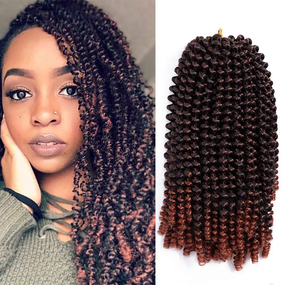 1 Pack Spring Twist Crochet Braiding Hair 1b/350 Kanekalon Synthetic Hair  Crochet Braid Crochet Hair Afro