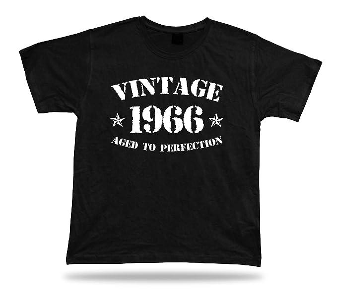 Camiseta impresa camiseta Vintage 1966 envejecido a la perfección feliz cumpleaños regalo presente