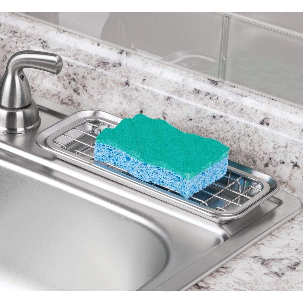 Amazon.com: InterDesign Gia Kitchen Sink Drainage Tray for Sponges ...