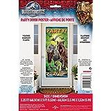 Décoration de fête poster de porte 152 cm - Jurassic Park