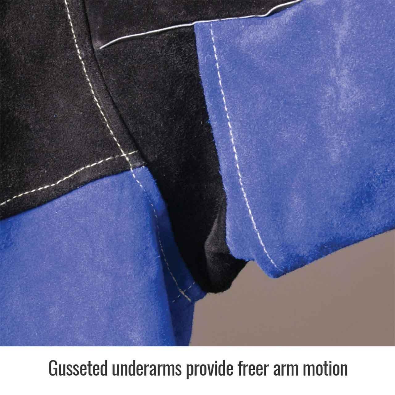 Black Stallion JL1030-BB Color Block Leather Welding Jacket, 3X-Large by Black Stallion (Image #4)