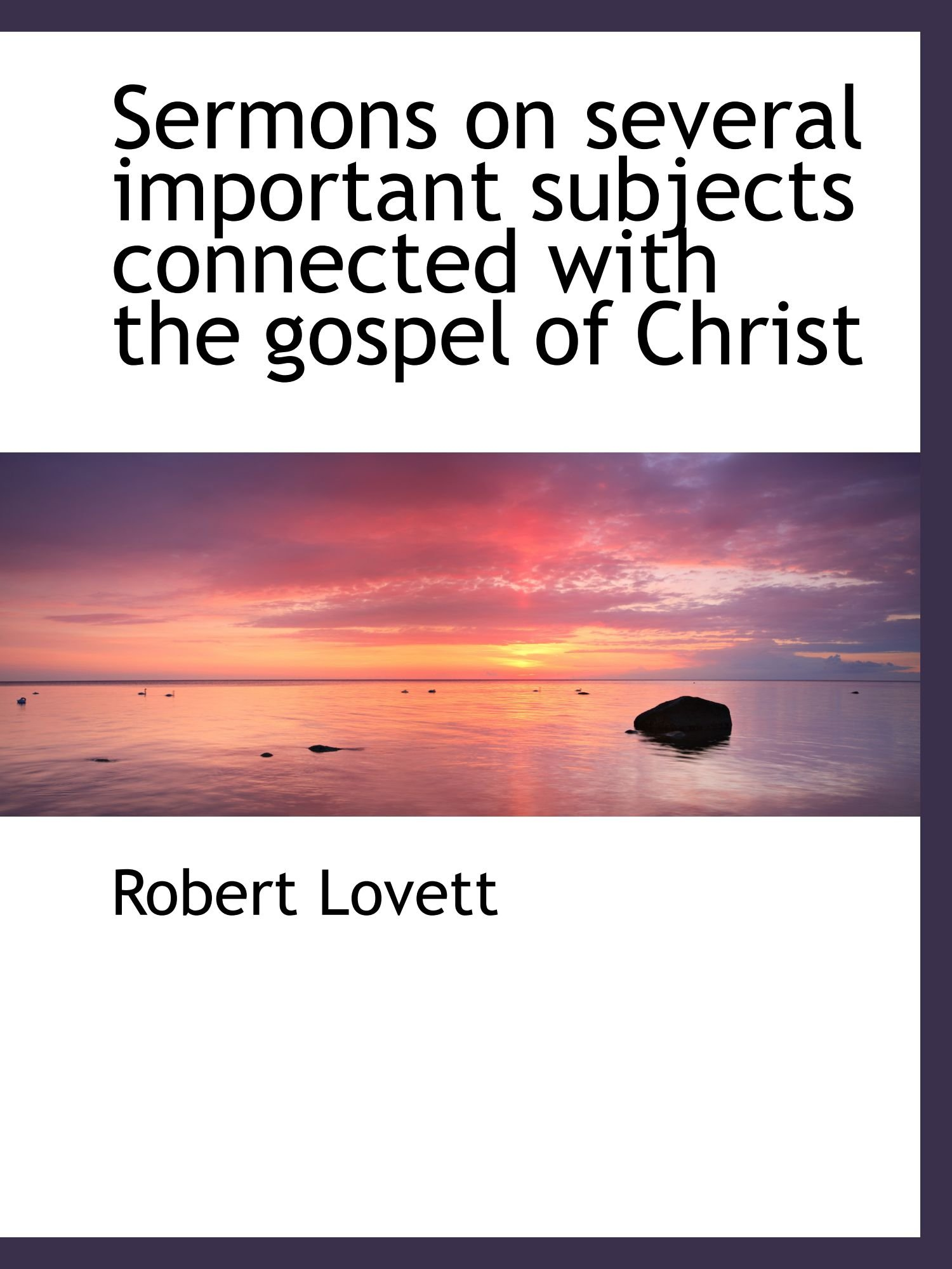 Download Sermons on several important subjects connected with the gospel of Christ pdf