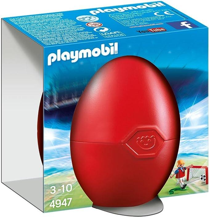 PLAYMOBIL - Jugador de fútbol con portería (49470): Amazon.es ...