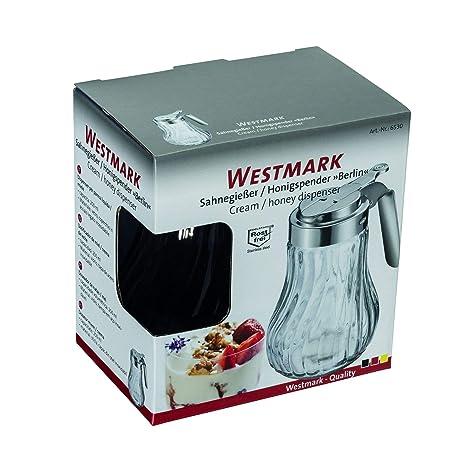 Westmark 65302260 - Berlin dispensador de Crema/Miel Cristal Plateado, 12,3 x 11,8 x 8 cm: Amazon.es: Hogar