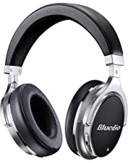 Bluedio F2 Bluetooth Headphones Active Noise Cancelling with Mic , Over Ear Wired and Wireless Headsets with Powerful Bass for Cell Phone/ PC/Travelling/gift ,(Black)