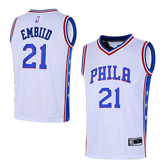 brand new 6bfa0 60716 Outerstuff Youth 8-20 Philadelphia 76ers #21 Joel Embiid Jersey