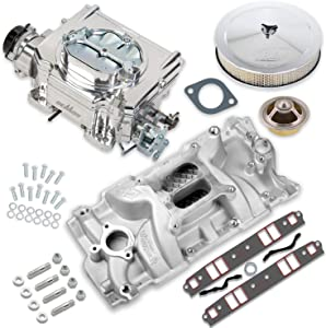NEW HOLLEY STREET DEMON CARBURETOR & MANIFOLD COMBO,750 CFM,4 BBL,GASOLINE,VACUUM SECONDARIES,ELECTRIC CHOKE,COMPATIBLE WITH SMALL BLOCK CHEVY