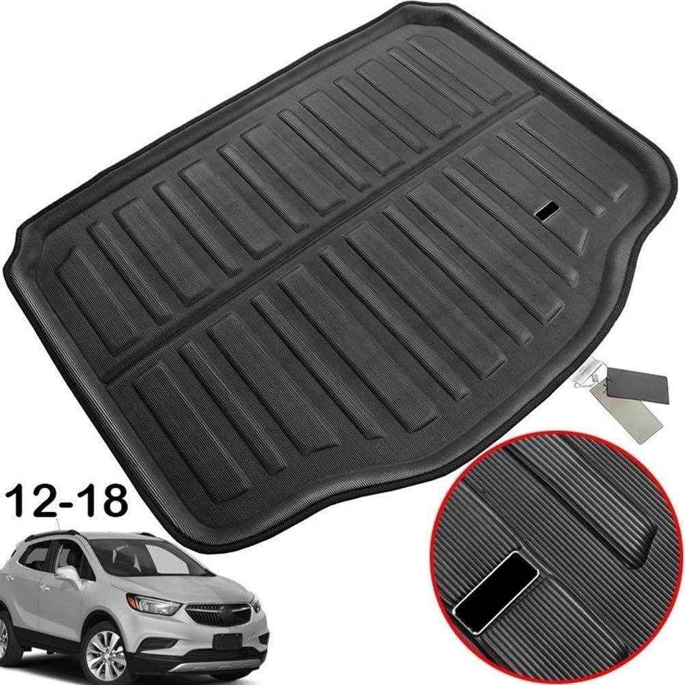 XIANGSHAN Accesorios for Buick Encore Opel Vauxhall Mokka X 2013-2018 Maletero Trasero del Cargador del Cargo Mat Revestimiento de la Bandeja Piso Moqueta 2014 2015 2016