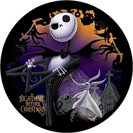 Nightmare Before Christmas Cake Topper Nightmare Before Christmas Printable Cake Topper Jack Skellington cake Jack and Sally cake topper