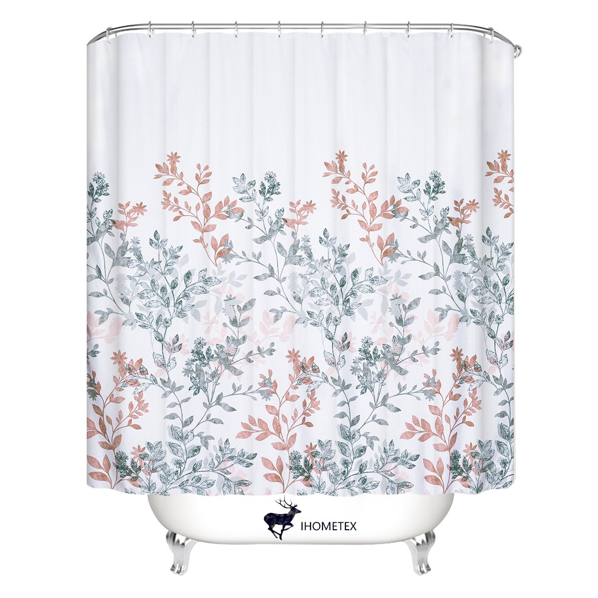 Amazon WEMAY Leaves Fabric Shower Curtain Home Kitchen